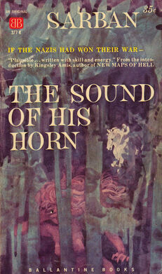 The Sound of His Horn, (Feb 1960, Sarban, publ Ballantine Books, 377K, $0 35, 125pp, pb) Cover - Richard Powers.jpg