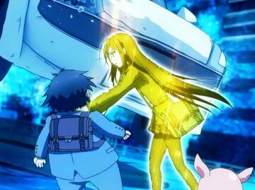 Kuroyukihime salvando a Haru