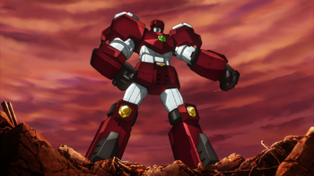 ...which then forms into a giant robot.
