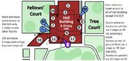 Hall building map