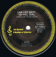 1974 - CAN I SIT NEXT TO YOU, GIRL - ROCKIN' IN THE PARLOUR - SG - AUS - 7'' - ALBERT PRODUCTIONS -AP-10551 - A