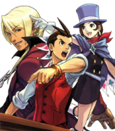 Objection% 21% 21 magazine cover ft Apollo% 2C Klavier% 2C and Trucy
