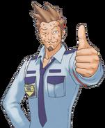 Larry In A Security Guard Uniform