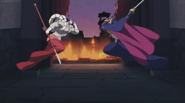 Steel samurai vs böser richter