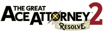 The Great Ace Attorney 2 logo English