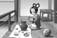 Pearl mit Urne