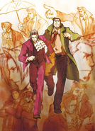 Edgeworth and Gumshoe running from their sins