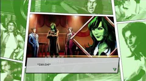 Marvel vs Capcom 3 - Character Ending ( She-Hulk )