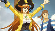 Athena and Phoenix as pirates
