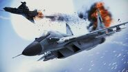 MiG-29A Shooting Down MiG-21bis