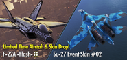 F-22A -Flash- and Su-27 Event Skin 02 Banner