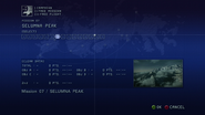 Ace Combat 6 Mission Select Screen