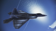 F-22A Gryphus Flyby 1