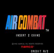 Air Combat (arcade) menu screen