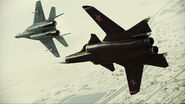 Assault Horizon Su-47 and MiG-29A Flyby