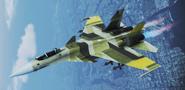 "Su-37 ""Gelb"" Skin Flyby"