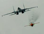 Hostile Su-35S with Missile