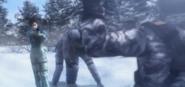 Kei nagase pointing a gun to a yuktobanian soldier 2