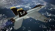 FA-18F Jolly Rogers Flyby