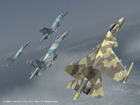 Ace Combat 5: The Unsung War/登場機體