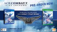 AC7 GameStop Pilot Wings Pin