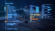 空戰奇兵7 未知天際 機體組編輯畫面