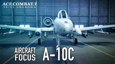 Ace Combat 7 Skies Unknown - PS4 XB1 PC - A-10C Aircraft Focus