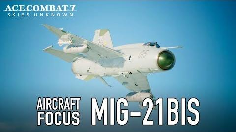 Ace Combat 7 Skies Unknown - PS4 XB1 PC - MiG-21bis Aircraft Focus