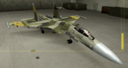 Su-37 Special color hangar