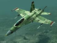 FA-18C Grun