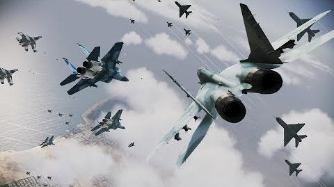 Ace Combat Infinity Emergency Air Strike Special Raid mission (Rank S)