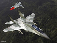 ACZ MiG-29A Flyby with Pixy