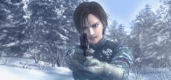 Kei Nagase pointing a gun to a Yuktobanian soldier.png