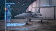 空戰奇兵7 未知天際 機體選擇畫面