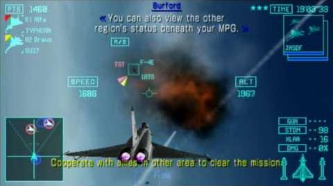 Ace Combat Joint Assault - PSP - Gameplay Joint Assault Mission