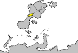 Location of Urealia shown in yellow.
