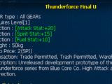 Thunderforce Final U