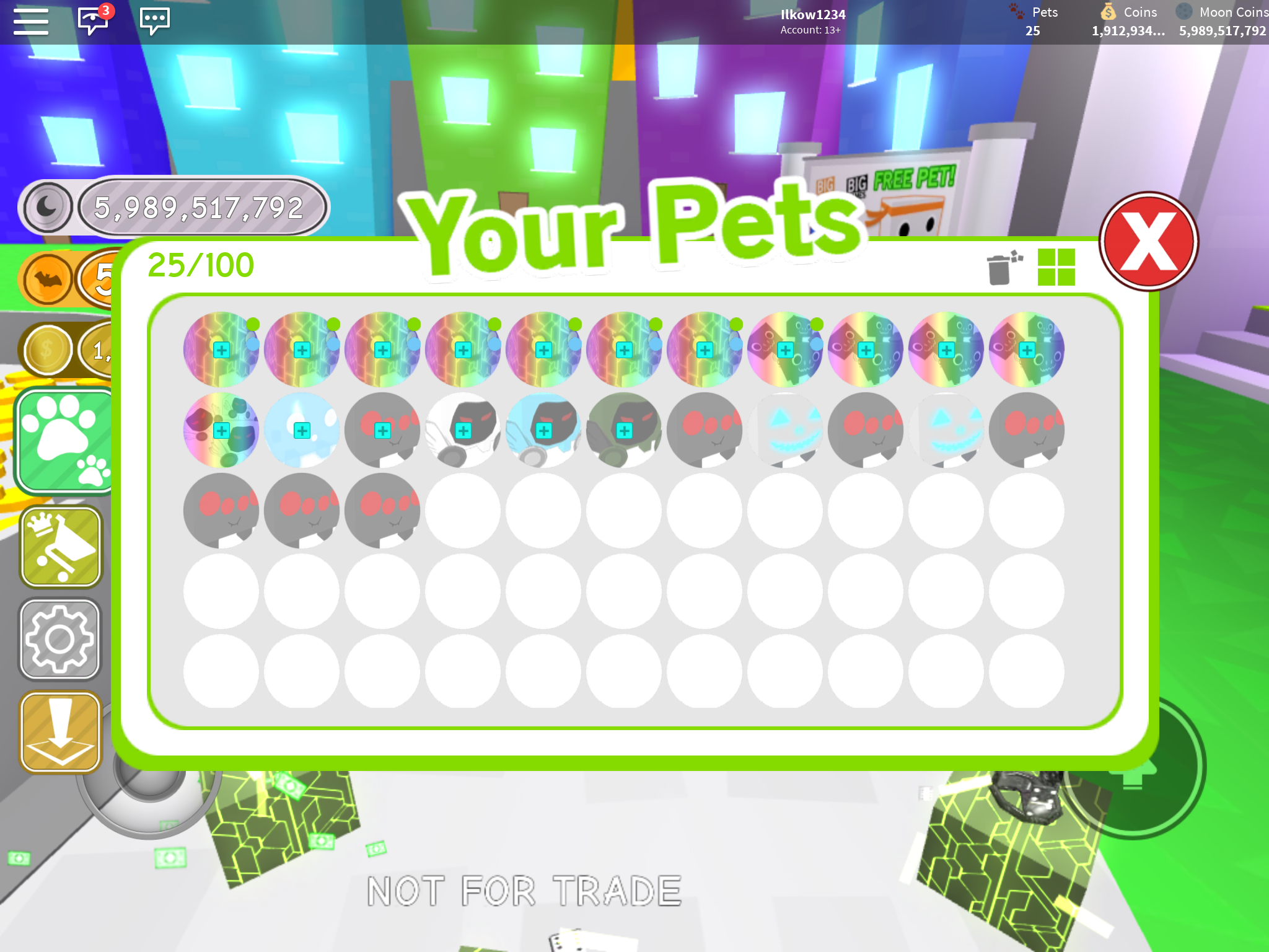 Trading all thes pets