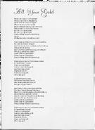All Your Gold lyrics