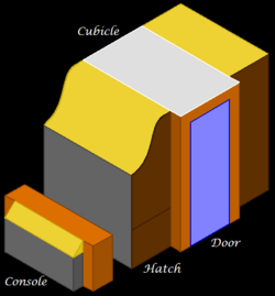 Isometric schematic of the ATM.