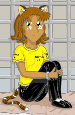 Tabitha, in her basement cell.