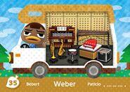 Weber amiibo Card