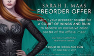 A Court of Wings and Ruin - Preorder Offer