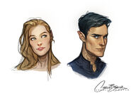 Rhys and Feyre by Charlie Bowater