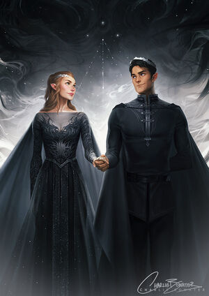 High Lord and Lady of the Night Court (art by Charlie Bowater)