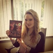 Sarah J. Maas with Queen of Shadows