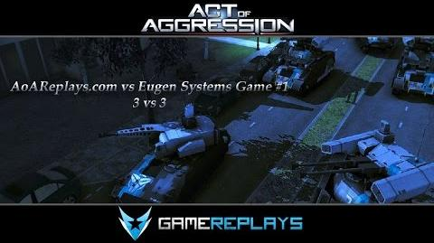 Act of Aggression BETA AoAReplays.com vs Eugen Systems Game 1
