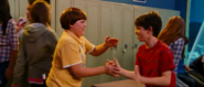 Rowley and Greg slapping skin