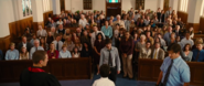 Humans at church