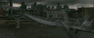 Millennium Bridge collapsing